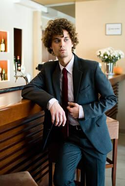 eb8a1350d22a7 Jasmin Suit - garnitur z wełny 65% w kolorze ciemny popiel